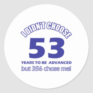 53 år befordran runt klistermärke