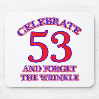 53 födelsedag design musmatta