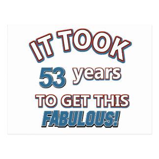 53rd årsfödelsedagdesigner vykort