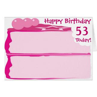 53rd födelsedag för lycklig hälsningskort
