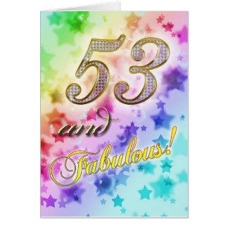 53rd födelsedag för någon som är sagolikt hälsningskort