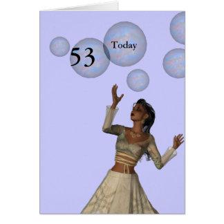 53rd Födelsedag Hälsningskort