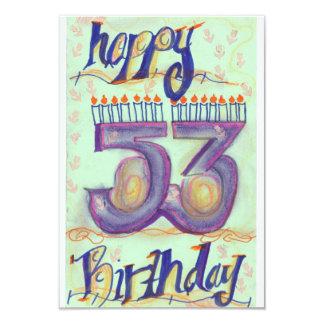 53rd födelsedagkort för lycklig 8,9 x 12,7 cm inbjudningskort