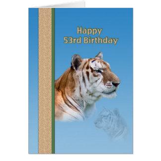 53rd Födelsedagkort med tigern Hälsningskort