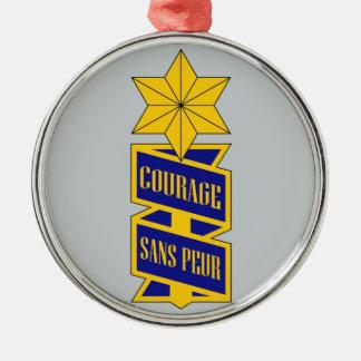 53rd Infanterit Regiment Julgransprydnad Metall