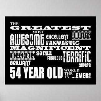 54th Födelsedagsfeststörsta femtio åriga fyra Poster