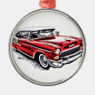 55 Chevy Julgransprydnad Metall