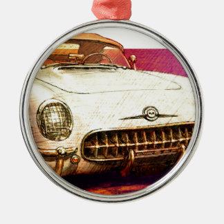55 Corvette målning Julgransprydnad Metall