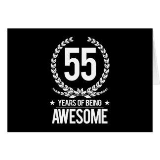 55th Födelsedag (55 år av att vara enorma) Hälsningskort