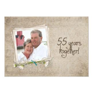 55th Öppet hus för bröllopsdag 12,7 X 17,8 Cm Inbjudningskort