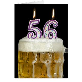 56th Födelsedagöl Hälsningskort
