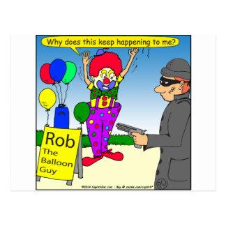 579 rånar clowntecknaden vykort