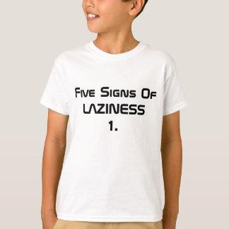 5 tecken av Laziness Tröja