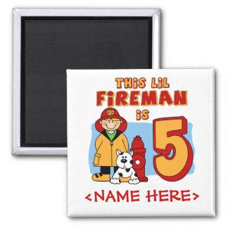 5th födelsedag för Lil brandman Magnet