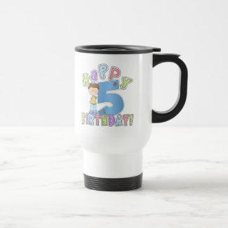 5th födelsedag för pojkelycklig mugg
