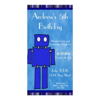 5th födelsedag för robot fotokort