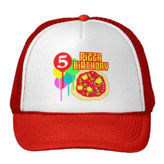 5th FödelsedagPizzafödelsedag Mesh Kepsar