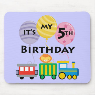5th Födelsedagtågfödelsedag Musmatta