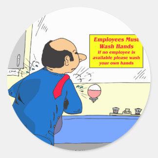 601 anställda måste tvätta händertecknaden runt klistermärke