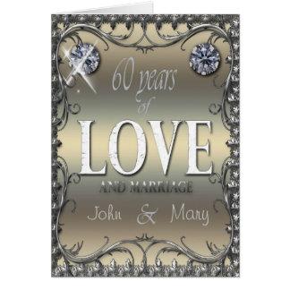 60 år av kärlek hälsningskort