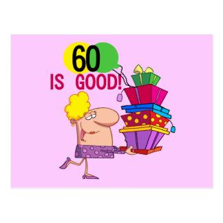 60 är bra födelsedagTshirts och gåvor Vykort