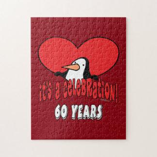 60 år firandepingvin pussel