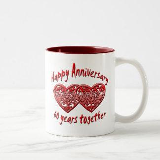 60 år tillsammans Två-Tonad mugg