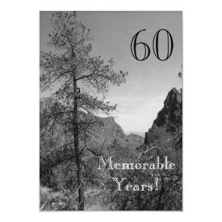 60 minnesvärd år/födelsedag Firande-Natur 12,7 X 17,8 Cm Inbjudningskort