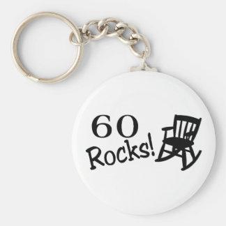 60 stenar (vippa) rund nyckelring