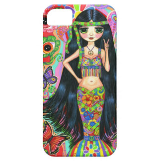 60-tal för Hippiesjöjungfru för 70-tal Psychedelic iPhone 5 Case-Mate Fodral
