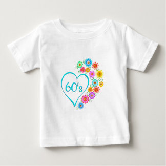 60-talhjärta och blommor t shirts