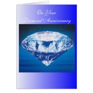 60th Bröllopsdagdiamant Hälsningskort