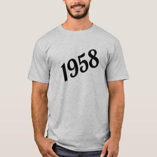 60th födelsedag 1958 för lycklig tee