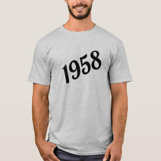60th födelsedag 1958 för lycklig tee shirt