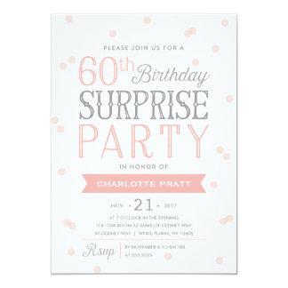 60th Födelsedag för inbjudan | för