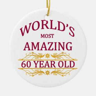 60th. Födelsedag Julgransprydnad Keramik