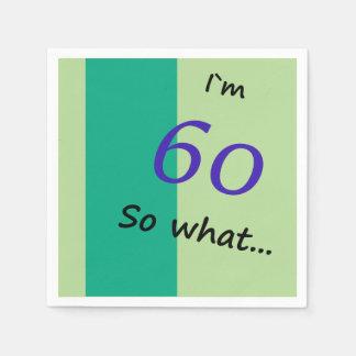 60th Rolig I ` M 60 för födelsedag så vad Servett