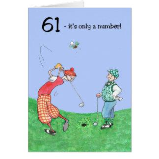 61st Födelsedagkort för en golfare Hälsningskort