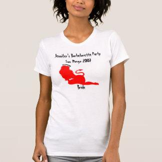 62379 djävulen/styggt/trevligt Bachelorette party T Shirt
