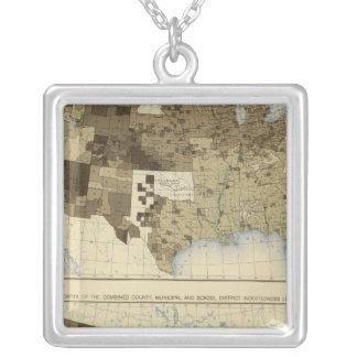 63 skatt, skuld 1890 silverpläterat halsband