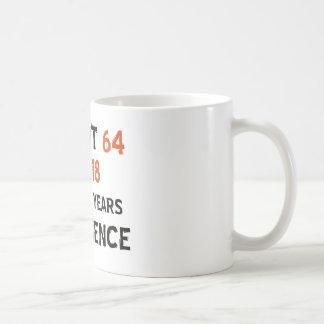 64th födelsedagdesigner vit mugg