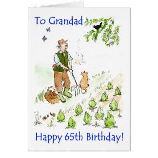 65efödelsedagkort för en farfar hälsningskort