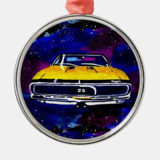 67 högvärdig runda för Chevy Camaro SS prydnad Julgransprydnad Metall