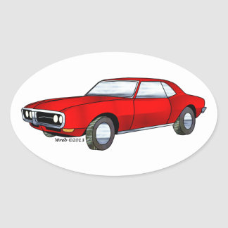 67 Pontiac Firebird Ovalt Klistermärke