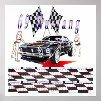 69 mustang, kalender 2011 affisch