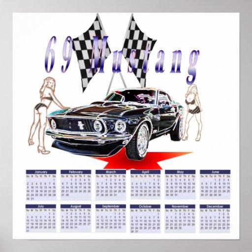 69 mustang, kalender 2011 print