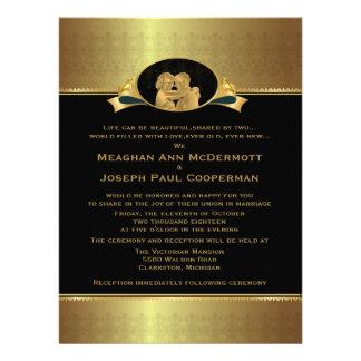 6 5 x 8 75 guld- elegantt lyxigt modernt bröllop