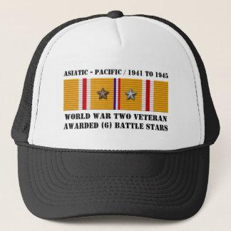 6 asiatisk Stillahavs- veteran för STRIDSTJÄRNOR Truckerkeps