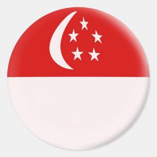 6 Singapore för stora klistermärkear Runt Klistermärke