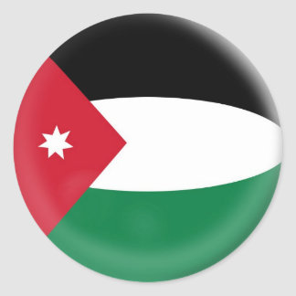 6 stora klistermärkeJordanienflagga Runt Klistermärke